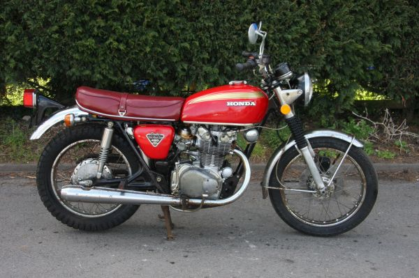 1 Honda CB450 CB 450 1972 just 6578 original mls For Sale
