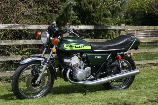 1 Kawasaki H2B H2 B 750 1974 totally original For Sale